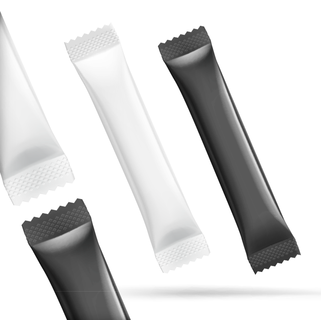 black and white stick pack options - transparent